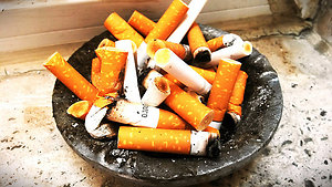 Stop Smoking. Ashtray